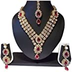 Necklace sets - Pink Stone Three Line Necklace Set