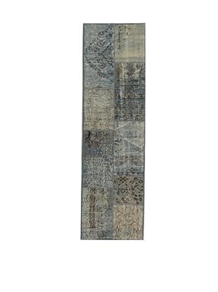 Design Community by Loomier Alfombra Anatolian Patchwork Azul Claro 60 x 200 cm