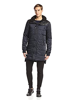 Members Only Men's Long Nordic Coat with Faux Fur Collar