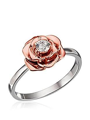 Goldmaid Ring Goldmaid Ladies Ring White Rose Silber/ Rot