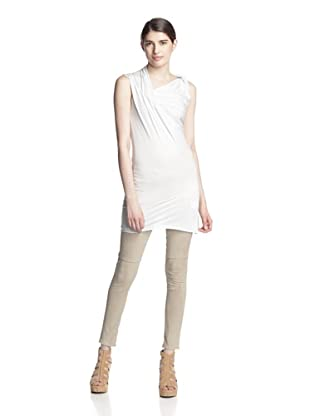 Rick Owens Lilies Women's Side Drape Top (White)