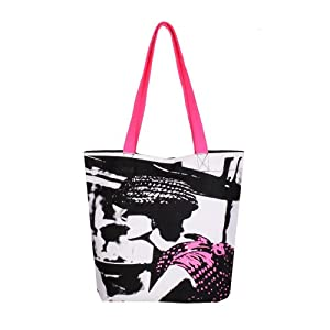 Be For Bag Izel - Dame Black And White Classic Tote Messenger Bag (CT/LADY-DAME)
