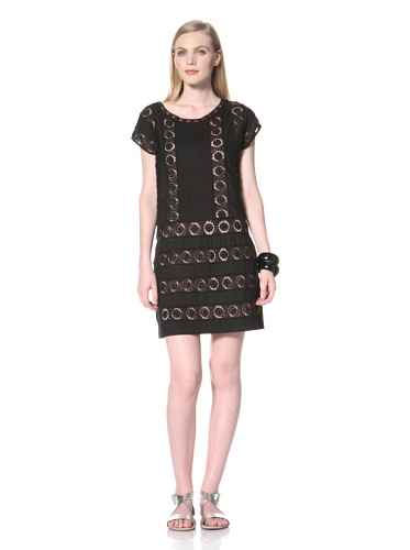 COLLETTE BY COLLETTE DINNIGAN Women's Lace Pintuck Dress (Black)