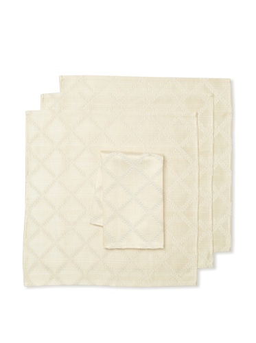 Lenox Set of 4 Laurel Leaf Napkins (Ivory)