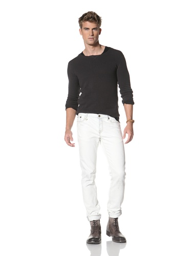 R13 Men's Skinny Low Rise Jeans (Bleach)