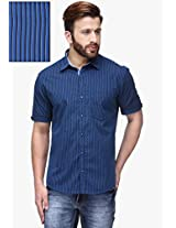 Blue Slim Fit Casual Shirt Canary London