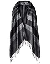 RAMPAGE Women's Striped Blanket Wrap with Hood