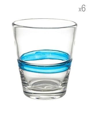 Cayos Company Set 6 Bicchieri Nastro Azzurro 9 cm