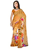 Shoppingover Dailywear Multicolor Saree in Georgette Fabric