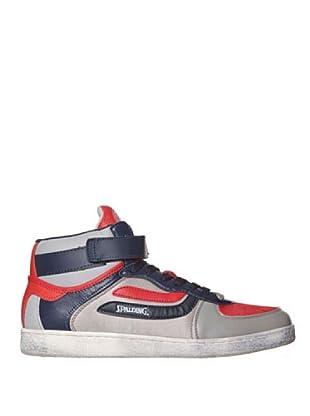 Spalding Zapatillas Basket81 (Gris / Azul / Rojo)