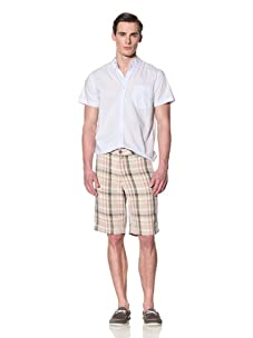 Tailor Vintage Men's Linen Walking Short (Linen Plaid)