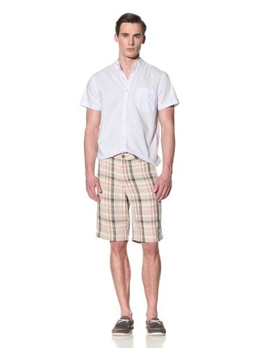 Tailor Vintage Men's Linen Walking Short (Linen Plaid)