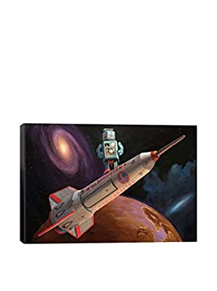 Rocket Surfer Gallery Wrapped Canvas Print