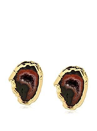 Janna Conner Black Geode Stud Earrings