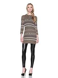 Charlotte Ronson Women's Breton Henley Sweater Dress (Light Military)