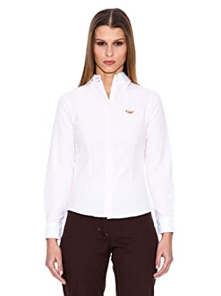 Spagnolo Camisa Oxford Diva (Blanco / Rosa)