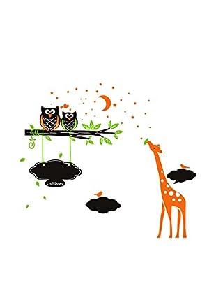 LO+DEMODA Selbstklebende Tafel Mini Zoo