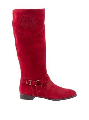 Liberitae Botas Montar Hebilla (Rojo)