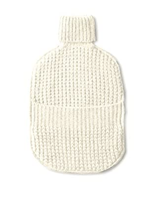 Sofia Cashmere Thermal Water Bottle Cover, Ivory