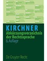 Abkurzungsverzeichnis Der Rechtssprache (Auflage)