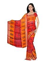 Bhagalpuri Silk Printed Red Bollywood Saree - VMS80040
