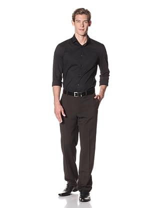 Joseph Abboud Men's Hudson Fit Flat-Front Trousers (Black)