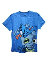 Batman Palace Blue Half Sleeve Tee