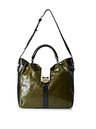 Treesje Women's Breaker Convertible Tote, Olive/Black Crystal
