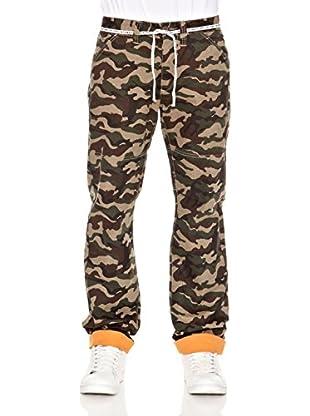 Grimey Wear Pantalón Largo Grimey (Verde Camuflaje)
