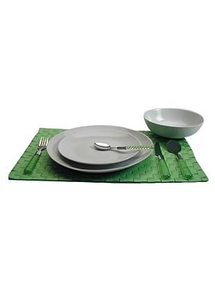 Table Set 48 Pezzi Tavola (Bianco/Verde)