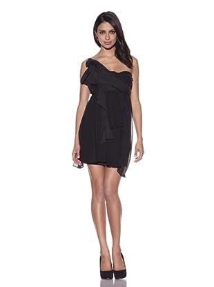 Foley + Corinna Women's Asymmetric Drape Dress (Black)