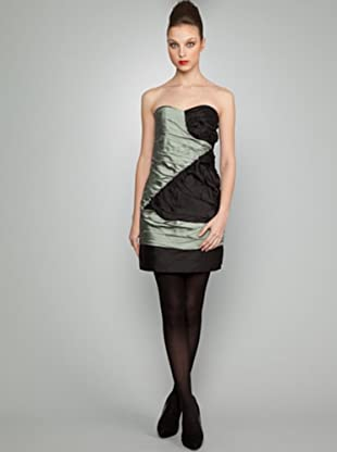Dolores Promesas Vestido Palabra de Honor (verde / negro)