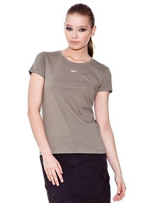 Esprit Camiseta Crew (Caqui)