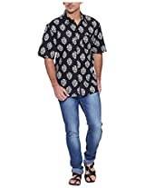 Very Me Men's Casual Shirt_1134_Black and White_34