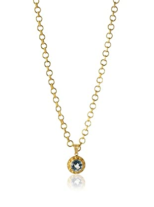 Jamie Young Blue Topaz Palace Pendant, Gold