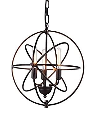 Urban Lights Vienna 3-Light Pendant Lamp, Dark Bronze