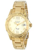 Invicta Analog Gold Dial Men's Watch - 14397