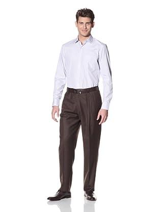 Hart Schaffner Marx Men's Double Reverse Pleat Trouser (Brown)