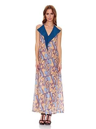 Candora Vestido Linda (Multicolor / Azul)