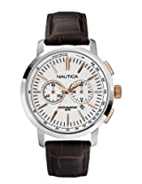Nautica Chronograph White Dial Men's Watch - A19574G