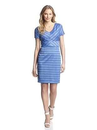Marc New York Women's V-Neck Sheath Dress (Blue Jay)