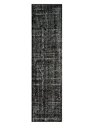 nuLOOM One-of-a-Kind Hand-Knotted Vintage Turkish Overdyed Rug, Black, 2' 5