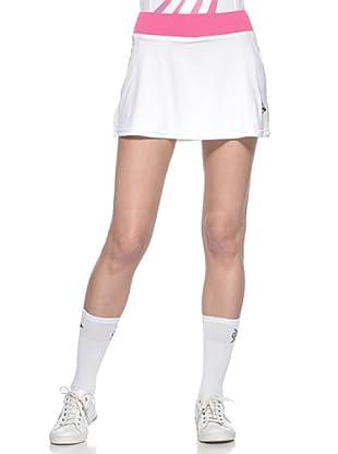Dunlop Abbigliamento Ladies - Skort (Bianco/Rosa)