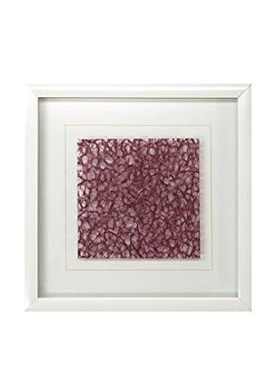 Star Creations Burgundy Ogura Lace & White Molding Shadowbox Art