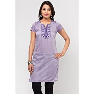 Printed Cotton Purple Kurta