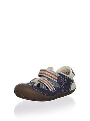 Stride Rite Kid's Soft Motion Dino First Walker (Infant/Toddler) (Sandstone/Espresso/Blue)