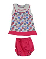 Ssmitn Baby Wear Hello Family Pink Frock For Girls