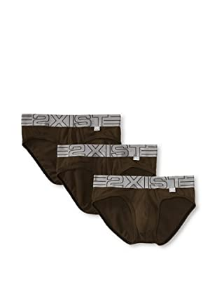 2(x)ist Men's Military No-Show Brief 3-Pack (Army)