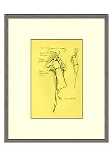Vintage Women's St. Laurent Fashion Sketch c.1968