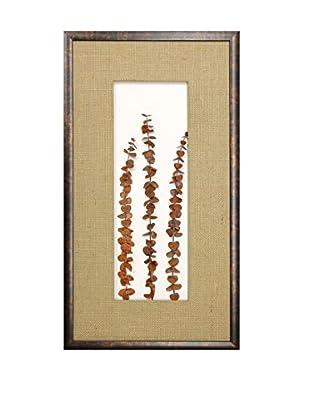 Star Creations Frosted Harvest Eucalyptus Stems Shadowbox Art
